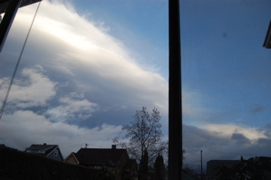 Weather Front passing over the house.