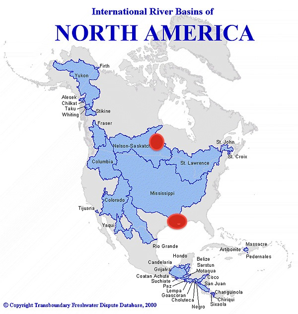 North America water basins