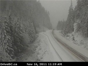 Nov 16 Snow on Sutton Pass