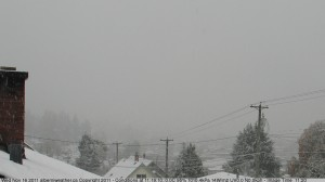 Nov 16 Snow on the Alberniweather Webcam