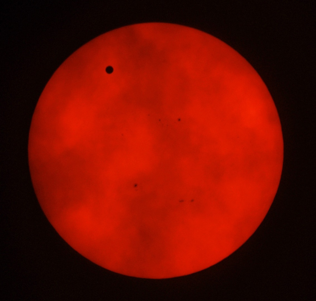 Venus Transit of Sun at Port Alberni with solar filter