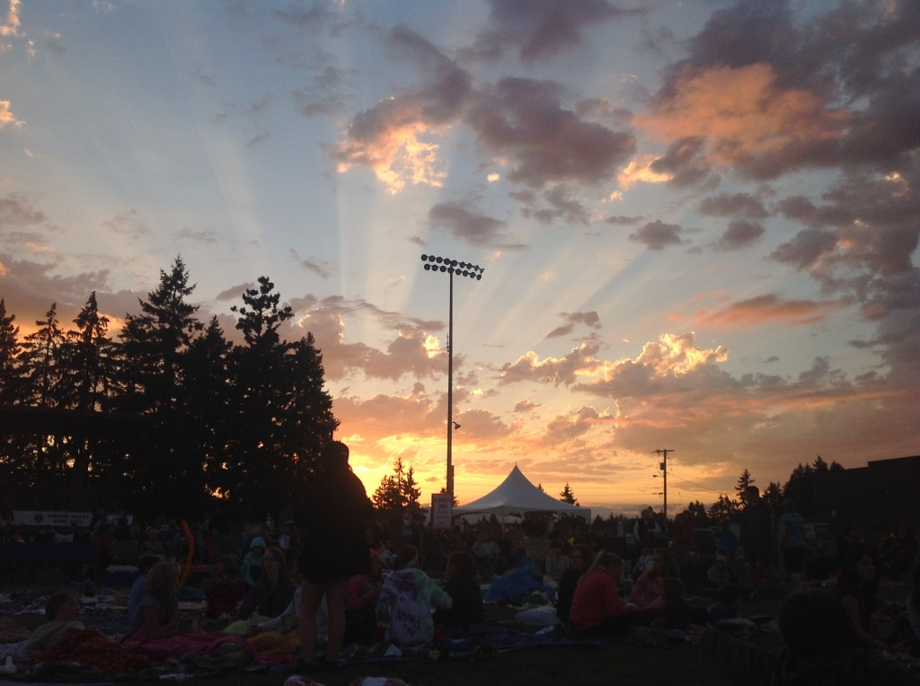 Spectacular Sunset at 2012 Starlight Movie