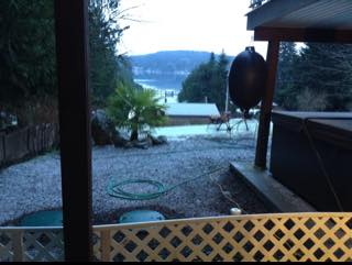 Light snow at Sproat Lake this morning and around the Valley.