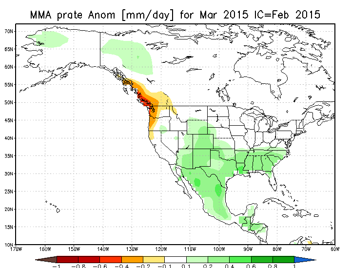 Precipitation Anomaly March 2015