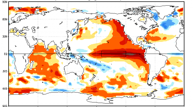 April 2015 Summary – A surpringly normal month – The Blob stretches over the coast of the New World