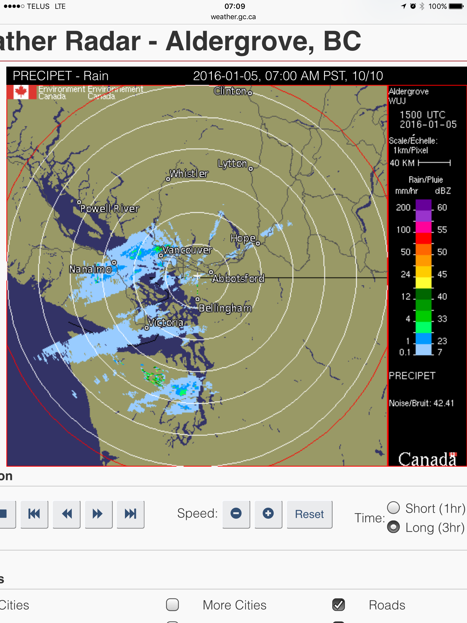 Updated 1:00PM – Snow moving up Island this morning  Monitor radar