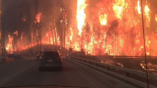 Heat returning for weekend. Weather data of Devastating Ft Mac Fire
