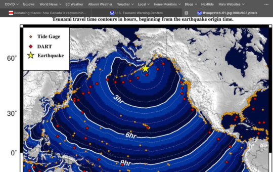 Awaiting word on Tsunami potential – Will post new blog if Warning issued.
