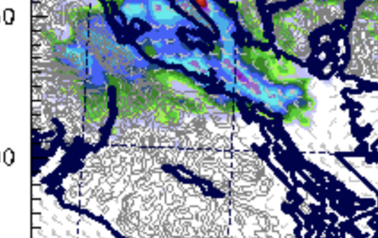 Some areas should see a little rain this evening – Possible Thundershower Saturday for Comox, Alberni, valleys