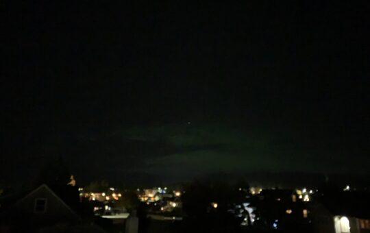 Aurora Borealis over Port Alberni Thanksgiving Monday night.